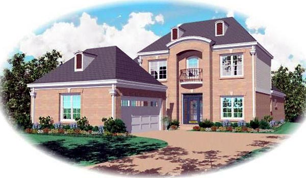 Tudor House Plan 46618 Elevation