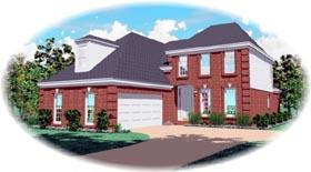 European House Plan 46619 Elevation