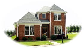 Traditional House Plan 46622 with 3 Beds, 3 Baths, 2 Car Garage Elevation