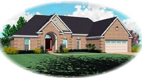 House Plan 46625 | Traditional Style Plan with 1771 Sq Ft, 3 Bedrooms, 2 Bathrooms, 2 Car Garage Elevation