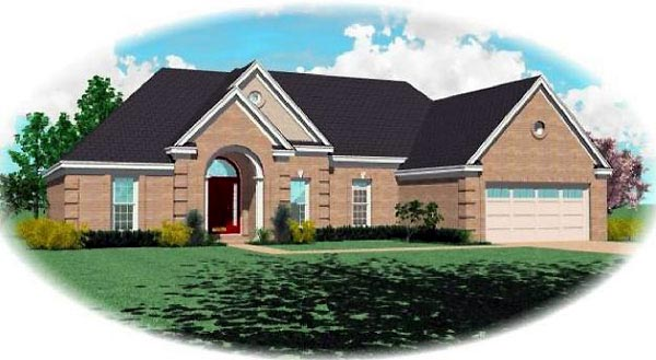 Traditional House Plan 46625 Elevation