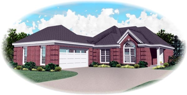 Traditional House Plan 46627 Elevation