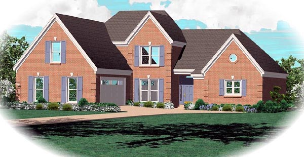 Traditional House Plan 46632 Elevation
