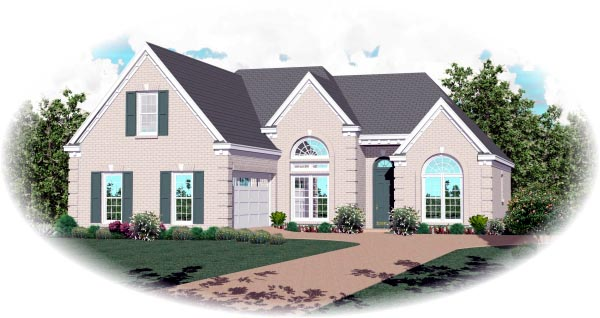 Traditional House Plan 46641 Elevation