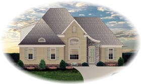 House Plan 46642 Elevation