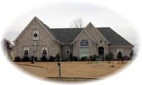 Traditional House Plan 46643 with 3 Beds, 2 Baths, 2 Car Garage Elevation