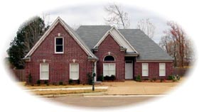 Traditional House Plan 46647 with 3 Beds, 2 Baths, 2 Car Garage Elevation