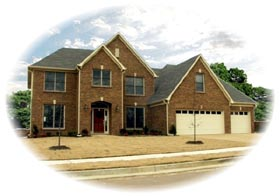 Traditional House Plan 46650 with 4 Beds, 4 Baths, 3 Car Garage Elevation