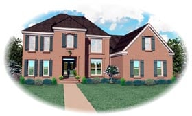 Traditional House Plan 46652 Elevation