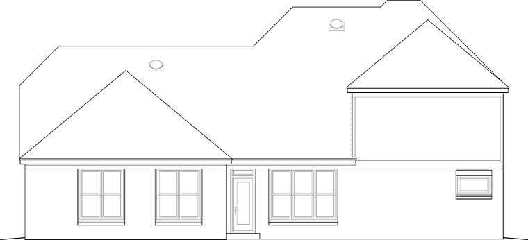 Traditional House Plan 46652 Rear Elevation