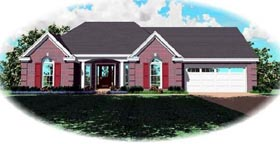 Traditional House Plan 46655 with 3 Beds, 2 Baths, 2 Car Garage Elevation