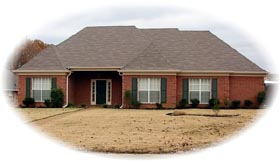 House Plan 46660 | Traditional Style Plan with 1834 Sq Ft, 3 Bedrooms, 2 Bathrooms, 2 Car Garage Elevation