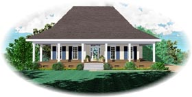 Country House Plan 46661 Elevation