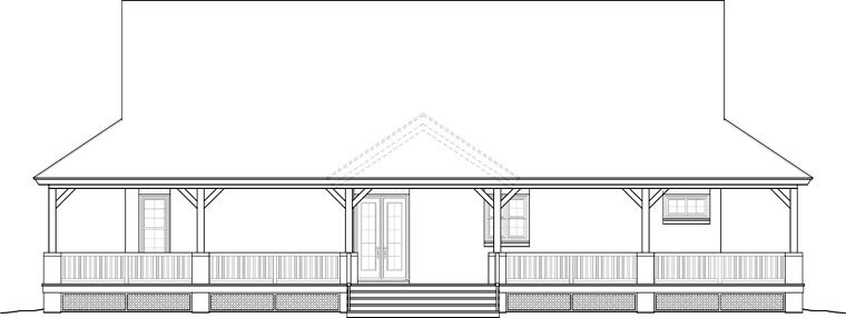 Country House Plan 46666 Rear Elevation