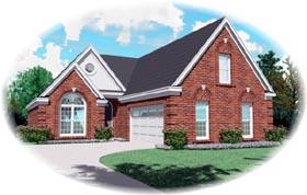 European House Plan 46667 Elevation