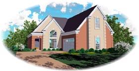 European House Plan 46668 Elevation
