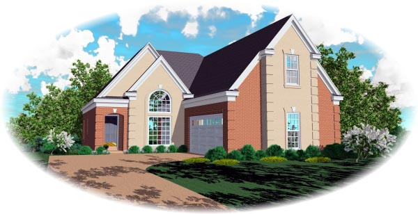 European House Plan 46668 Elevation