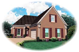 Traditional House Plan 46669 Elevation