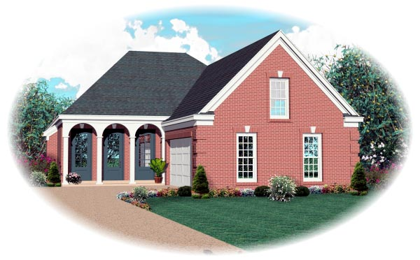 Traditional House Plan 46670 Elevation