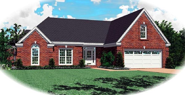 Traditional House Plan 46674 Elevation