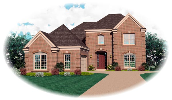 Colonial House Plan 46676 Elevation