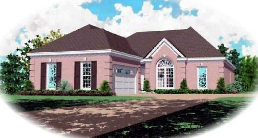 Traditional House Plan 46677 Elevation