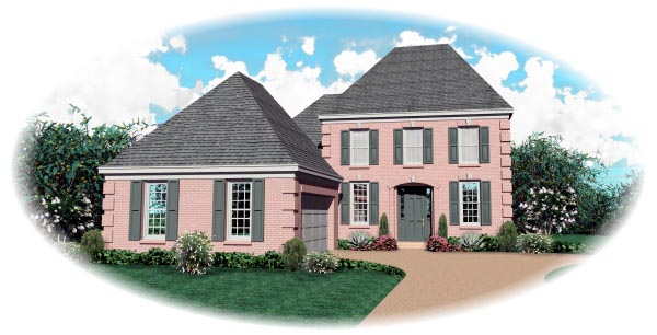 Colonial House Plan 46679 Elevation