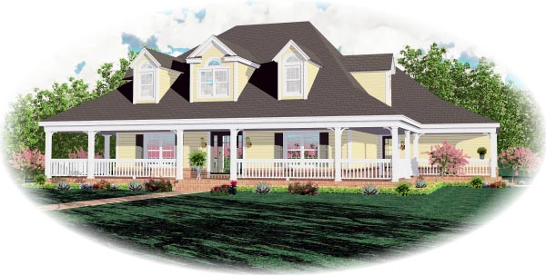 House Plan 46682 Elevation
