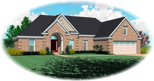 Traditional House Plan 46683 Elevation