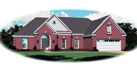 Traditional House Plan 46687 Elevation