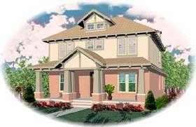 Bungalow House Plan 46691 Elevation