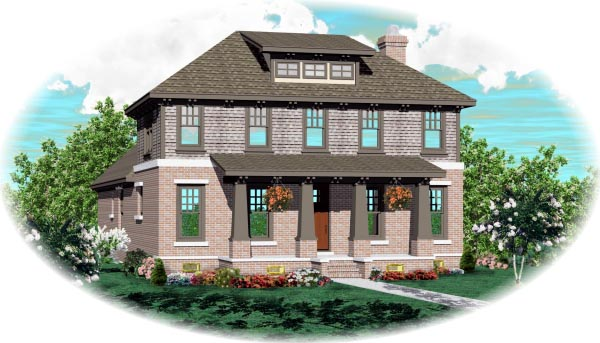 Bungalow House Plan 46693 with 4 Beds, 5 Baths, 2 Car Garage Elevation
