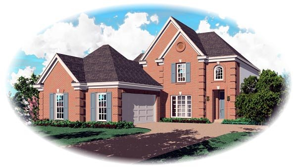 Traditional House Plan 46698 Elevation