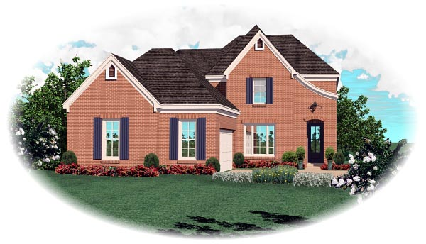 Traditional House Plan 46699 Elevation