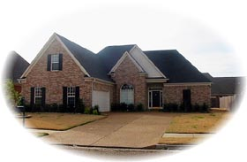 House Plan 46701 with 3 Beds, 2 Baths, 2 Car Garage Elevation