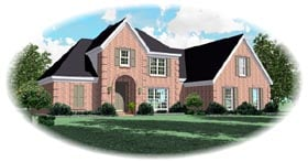 Traditional House Plan 46702 Elevation