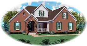 Traditional House Plan 46705 Elevation