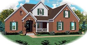 European House Plan 46706 with 4 Beds, 4 Baths, 2 Car Garage Elevation