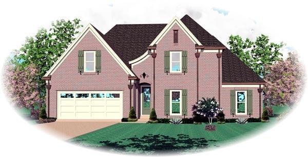 House Plan 46711 Elevation