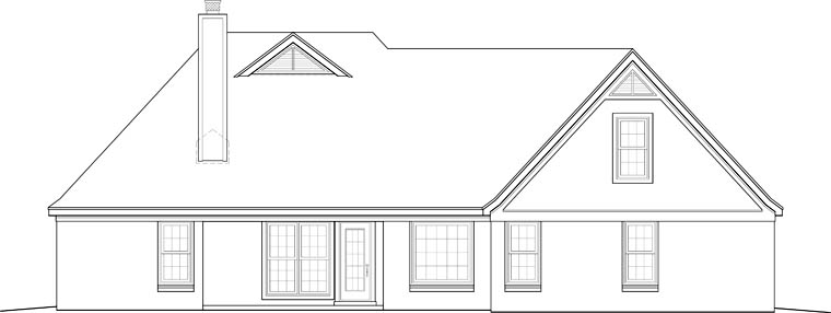 Traditional House Plan 46712 Rear Elevation