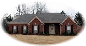 Traditional House Plan 46713 with 3 Beds, 2 Baths, 2 Car Garage Elevation