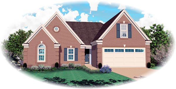 House Plan 46715 Elevation