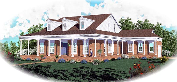 Country House Plan 46718 Elevation