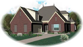 House Plan 46719 Elevation