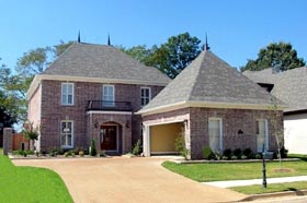 House Plan 46721 with 3 Beds, 4 Baths, 2 Car Garage Elevation