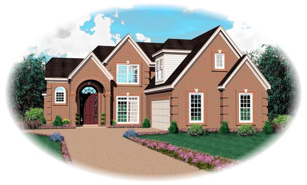 Tudor House Plan 46723 Elevation