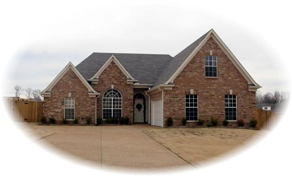 One-Story, Traditional House Plan 46726 with 3 Beds, 2 Baths, 2 Car Garage Front Elevation