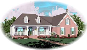 Country House Plan 46730 Elevation