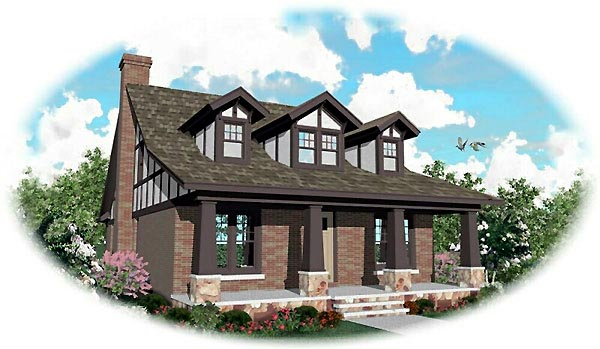 Craftsman House Plan 46734 Elevation