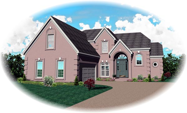 Traditional House Plan 46745 Elevation